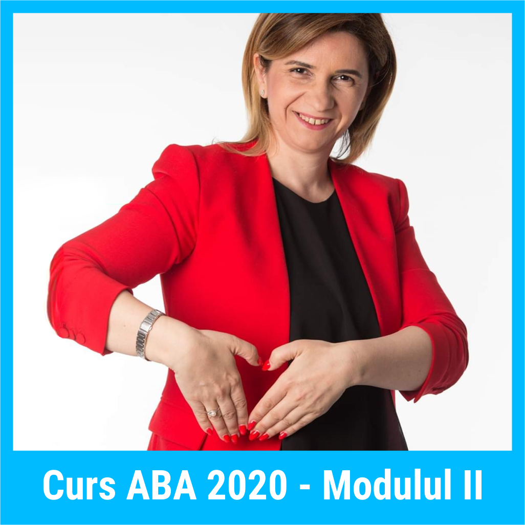 Curs ABA 2020, Modulul II, 16-17 octombrie 2020 - Curs online