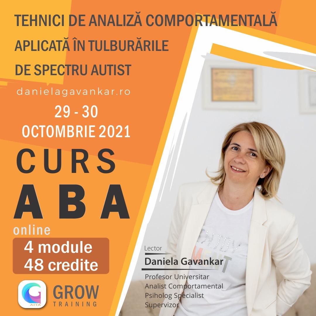CURS ABA specialiști: octombrie 2021 - februarie 2022