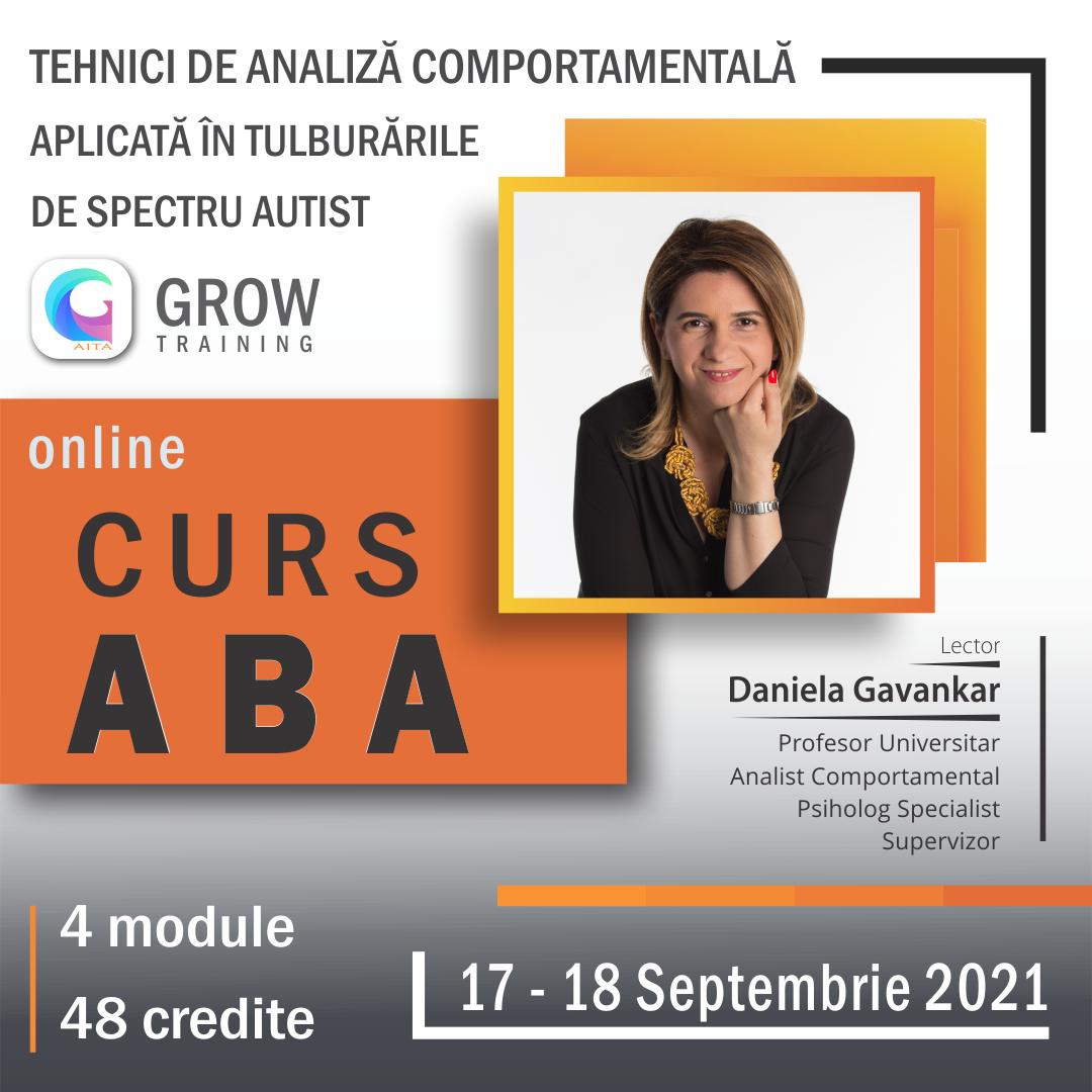 CURS ABA specialiști: septembrie 2021 - decembrie 2021