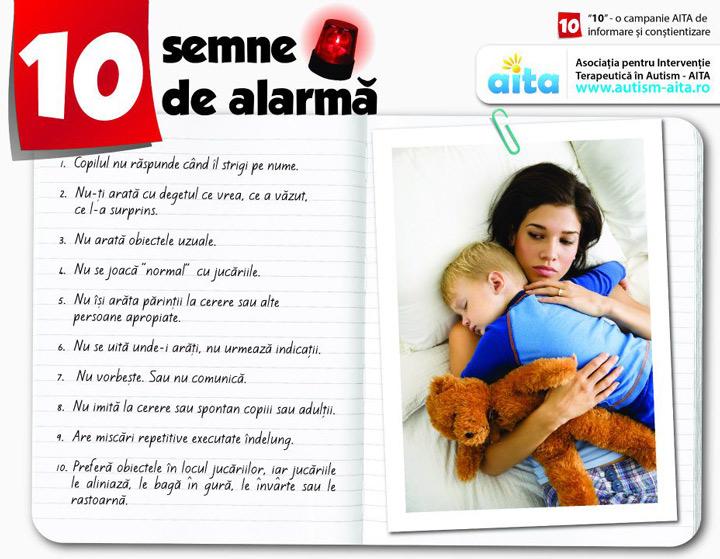 Zece semne de alarma autism
